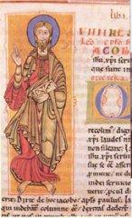 Anabel Lapeña repasa las páginas del Codex Calixtinus